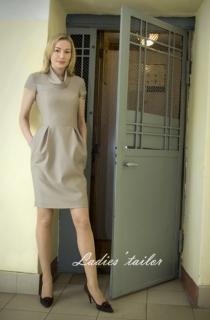 Платье из тонкой шерсти.