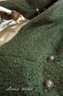 Обработка подкладки жакета.