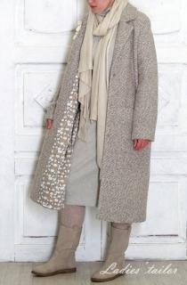Трикотажное пальто-кардиган.