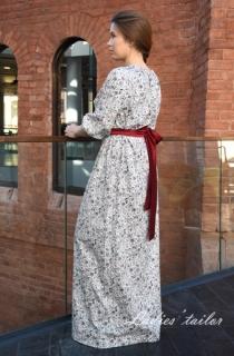 Платье в стиле кантри из хлопка c цветочным принтом.
